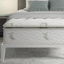 Quilted Bed Frame Mattress Design Modern Grey Bedroom White Quilt Bedding Set
