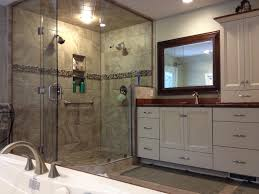 awards skip knoll inc spacious master bathroom with glass shower and jacuzzi tub