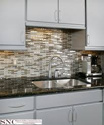 beautiful kitchen remodel gray cabinets with accent mosaic tile