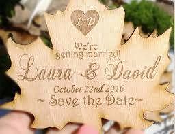 autumn wedding fall wedding rustic save the date wooden save