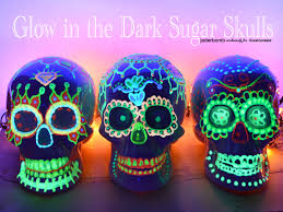 Glow In The Dark Table by Glow In The Dark Sugar Skull Ilovetocreate