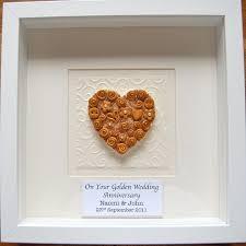 wedding anniversary plaques personalised golden wedding anniversary box frame 21 99 50th