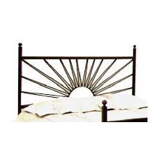 buy el sol wrought iron headboard metal finish gun metal size king