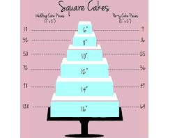 square wedding cake sizes and servings gallery for gt square