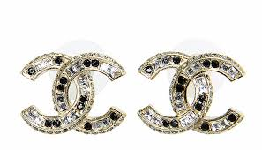 cc earrings authentic 2015 chanel gold black large cc classic earrings