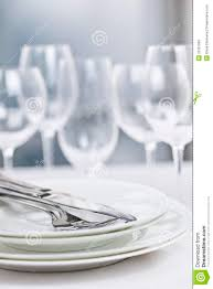 Fine Dining Table Set Up by Plates And Cutlery Stock Photography Image 33251862