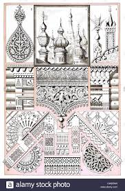 russian architectural ornaments and wood carving stock photo