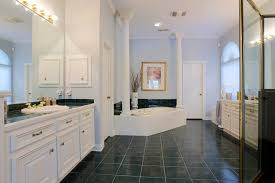 Bathroom With Two Separate Vanities by 26 W Shady Lane Houston Tx 77063