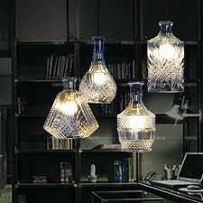 Creative Light Fixtures Wine Bottle Pendant Lighting Lamp Chandelier Hanging Lights Glass