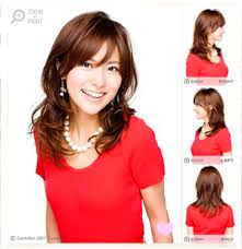 medium length hairstyles for permed hair shoulder length curls with side swiped bands hair pinterest
