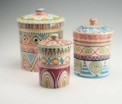 pottery kitchen canisters ceramic kitchen canisters sets foter