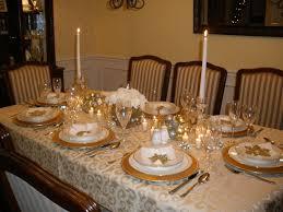 gold and silver christmas table setting holidays christmas