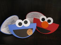 Homemade Birthday Invitation Cards Embracing The Three Me U0027s Elmo U0026 Cookie Monster Birthday