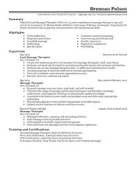 Occupational Therapist Resume Sample by Massage Therapist Resume Sample Free Resume Example And Writing