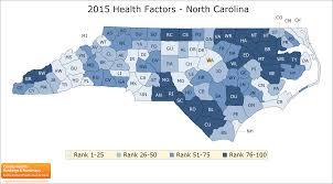 Map Of North Carolina And Virginia by North Carolina County Health Rankings U0026 Roadmaps
