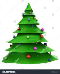 cartoon christmas tree with decorations stock photo 99853784