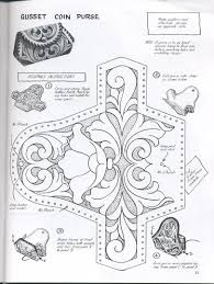 coin purse template tooled leather lacing leather diy