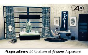 Sims 4 Furniture Sets Ts2 To Ts4 Aquabox 60 Gallons Of Awesome Aquarium Updated