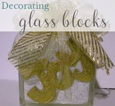 How To Decorate Glass Blocks Tutorial For Decorating Glass Blocks Designed Decor