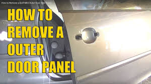 how to remove a golf mk5 outer door panel skin youtube
