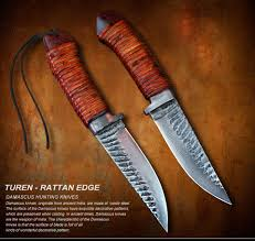 damascus hunting knife turen rattan edge 9 8cm hunting knife