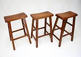 dark oak bar stools amazon com ehemco 29 heavy duty saddle seat bar stool in dark oak