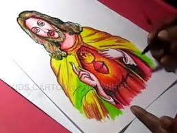 how to draw lord jesus christ drawing for kids step by step youtube