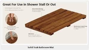 Teak Bath Mat Teak Shower Mats Review