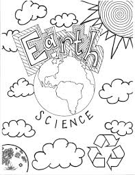 earth science coloring page cover page middle teaching