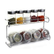 kitchen canisters and jars plan b 9 in 1 kitchen canisters and jars with aluminium rack