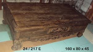Bali Coffee Table Bali Coffee Table With Carving And 4 Drawers Furniture Australia