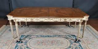 e j victor used newport 8 leg walnut dining table