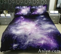 Galaxy Bed Set Beautiful Home Decorative Purple Galaxy Bedding Set 2 Sides 3d