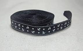 black grosgrain ribbon 5 yards black grosgrain ribbon anchor ribbon by francisroyal