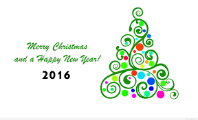 wonderful greeting card wish merry and happy new year 2016
