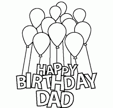 happy birthday dad coloring pages kids birthdays