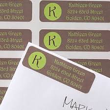 printed return address labels with custom initial