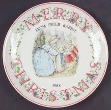 wedgewood rabbit wedgwood rabbit christmas plate at replacements ltd