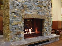 large stone fireplaces mcgregor lake ledge thin veneer from