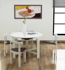 modern wood round dining table furniture round wooden counter height dining table and four