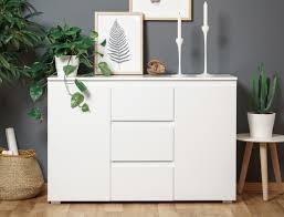Wohnzimmerschrank Kolonial Sideboard Imke 4 Weiß 120x80x40 Cm Anrichte Kommode