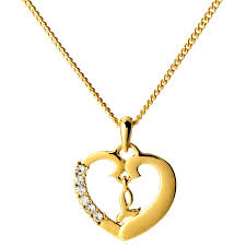 initial necklace letter l 18k yellow gold plated