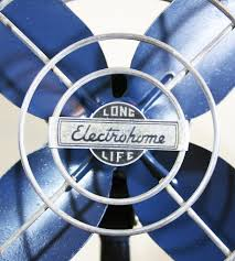 vintage navy blue electrohome fan home decor u0026 lighting the