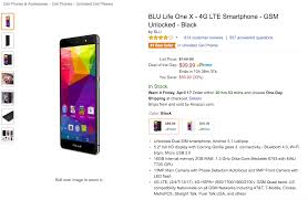 amazon 2016 black friday list deal blu life one x for 99 on amazon 50 off list price droid