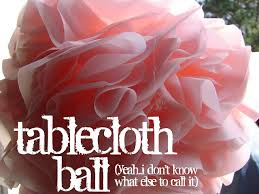 plastic table covers for weddings tablecloth ball rain resistant version of tissue paper pom poms