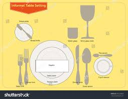 Informal Table Setting by Informal Table Setting Stock Vector 356220833 Shutterstock