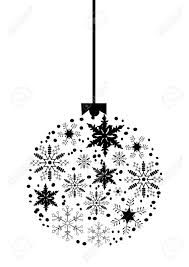 christmas tree ball made of snowflakes royalty free cliparts