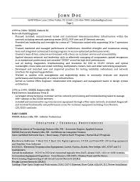 Telecom Engineer Resume Sample by Professional Resume Writing Service Usa Proresumewritingservices Com