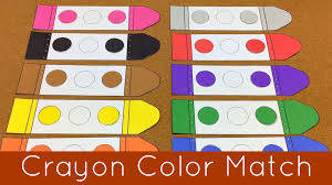 crayon color match presschool and kindergarten learning center
