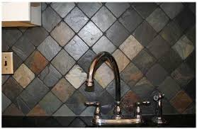 slate backsplashes for kitchens backsplash idea with black countertops remodeling